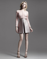 Victoria Beckham Victoria by Corded Lace & Jacquard Combo Dress, Rose