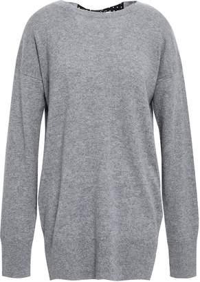 Equipment Gafton Silk-trimmed Melange Cashmere Sweater