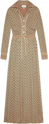 Gucci Quadro G lame maxi dress