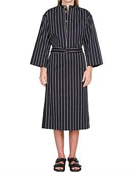 Bassike Pinstripe O/S Shirt Dress