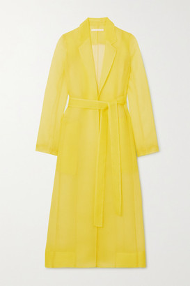 Jason Wu Collection Crinkled-organza Coat - Yellow