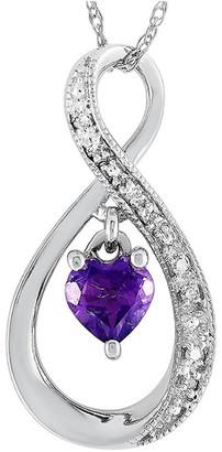 Non Branded Lb Exclusive 14K 0.03 Ct. Tw. Diamond & Amethyst Necklace