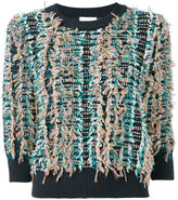 Chloé embroidered knitted top - women - Cotton/Polyamide - S