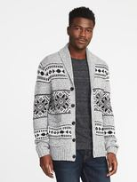 Old Navy Shawl-Collar Wool-Blend Cardigan for Men