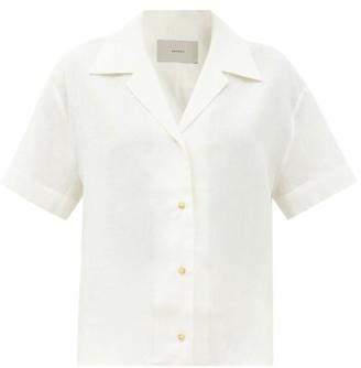 ASCENO Prague Short-sleeved Organic-linen Shirt - Light Yellow