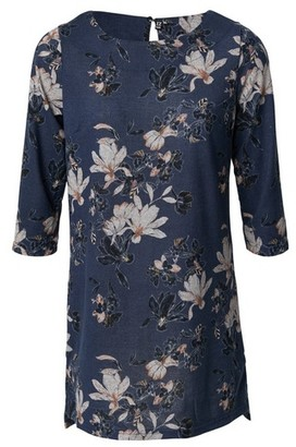 Dorothy Perkins Womens Izabel Multi Colour Floral Print 3/4 Sleeve Shift Dress