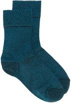 Isabel Marant Vicka lurex ankle socks - women - Polyester/Spandex/Elastane - One Size