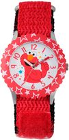 Sesame Street Elmo Children's Thumbs Up Time Teacher Watch in Red Plastic w/Red Nylon Strap