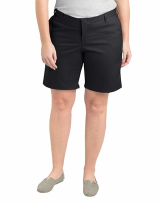 Dickies Women's Size Relaxed Fit 9 inch Flat Front Short Plus