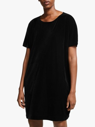 Eileen Fisher Velvet Dress, Black