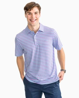 Southern Tide Sonar Performance Striped Polo Shirt