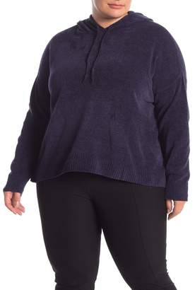 Eileen Fisher Organic Cotton Knit Pullover Hoodie (Plus Size)