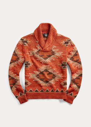 Ralph Lauren Linen-Blend Shawl Sweater
