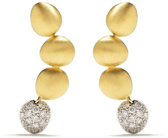 Brumani 18kt yellow and white gold Corcovado diamond earrings
