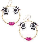Kate Spade Wild Imagination Gold-Tone Monster Hoop Earrings