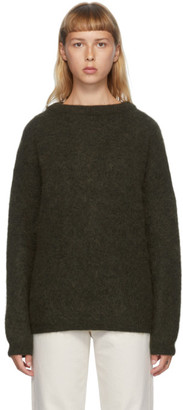 Acne Studios Green Wool and Mohair Oversized Sweater