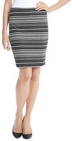 Karen Kane Knitted Jacquard Skirt