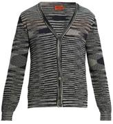 Missoni Striped-intarsia cotton-knit cardigan