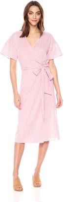 Velvet by Graham & Spencer Women's Jayel Striped Wrap Dress