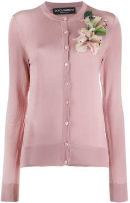 Dolce & Gabbana cardigan with flower embroidery