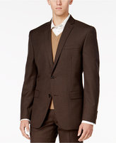 Bar III Men's Slim-Fit Brown Mini-Check Jacket, Only at Macy's