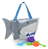Stephen Joseph Kids' Shark Beach Tote (Includes Sand Toy Set) 47644