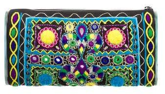 Edie Parker Jumbo Lara Embroidery Clutch