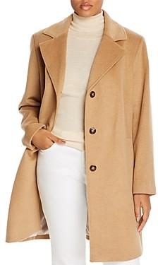 Calvin Klein Plus Long Wool-Blend Coat