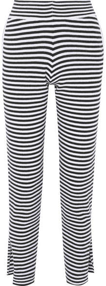 Allude Striped Wool And Cashmere-blend Pants - Black