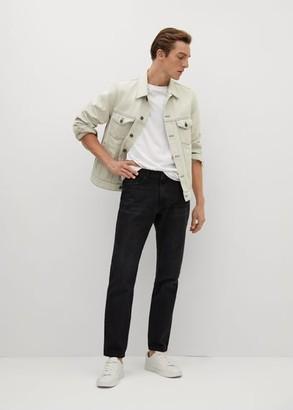 MANGO MAN - Light grey washed denim jacket light grey denim - S - Men