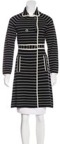Tory Burch Striped Wool Coat