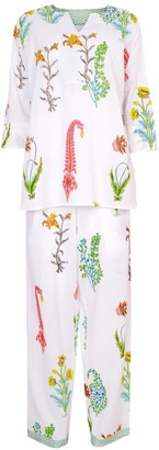 Nologo Chic Botanical Pj - Pure Cotton -White