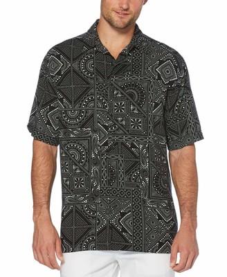 Cubavera Bandana Print Shirt