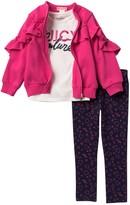 Juicy Couture Ruffle Jacket, Tee, & Leggings Set (Toddler Girls)