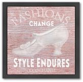 "Americanflat ""Fashions Change"" Black Framed Wall Art"