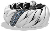 David Yurman Hampton Cable Bracelet with Grey Diamonds & Sapphires