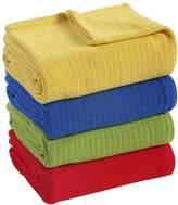 Fiesta Cotton Thermal Blanket, Yellow