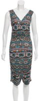 Jean Paul Gaultier Printed Draped Dress