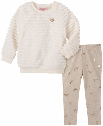 Juicy Couture Girls' 2 Pieces Sweater Legging Set Pants