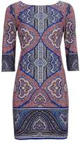 Wallis Petite Blue Mosaic Paisley Print Tunic Dress