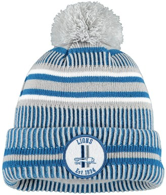 New Era Youth Silver Detroit Lions 2019 NFL Sideline Home Reverse Sport Knit Hat