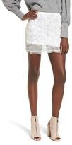 Raga Women's Silvermoon Sequin Miniskirt