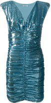 P.A.R.O.S.H. sequin ruched mini dress