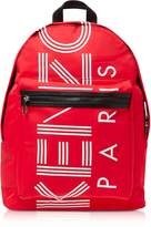 Kenzo Red Nylon Large Sport Backpack