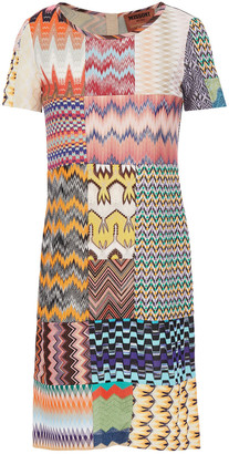 Missoni Patchwork Crochet-knit Mini Dress