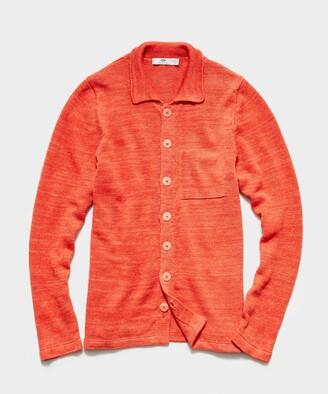Inis Meáin Shirt Jacket in Arancio