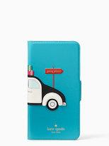 Kate Spade Car applique folio-iphone 7plus case