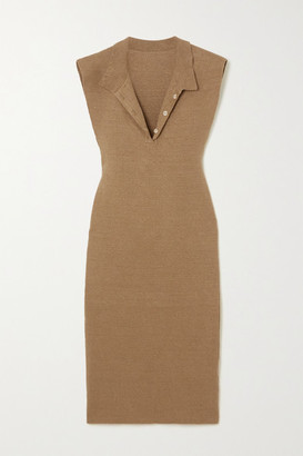 Jacquemus Santon Linen Dress - Taupe