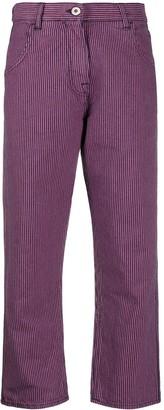YMC Striped Straight-Leg Trousers