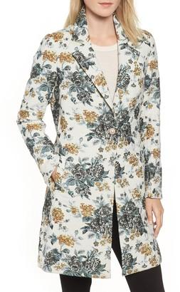 Sam Edelman Single Button Brocade Coat
